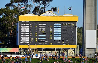 Duckworth–Lewis method - Many stadium scoreboards do not carry information about par scores during games