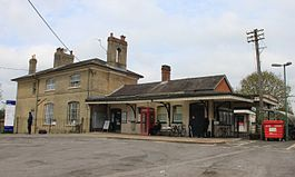 2015 at Romsey station - main station forecourt.JPG