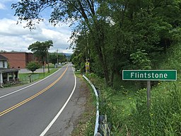2016-06-25 13 03 53 View west along Maryland State Route 144 (National Pike) entering Flintstone, Allegany County, Maryland.jpg