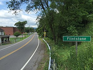 Flintstone, Maryland - Image: 2016 06 25 13 03 53 View west along Maryland State Route 144 (National Pike) entering Flintstone, Allegany County, Maryland