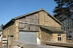 2016 at Perranwell station - goods shed from south.JPG
