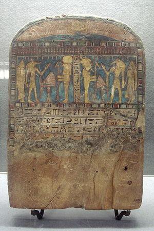 Egyptian Museum (Milan) - Image: 2017 Milano Museo egizio Stele funeraria (sec VII IV a.C.) Foto Giovanni Dall'Orto 14 Feb 2008