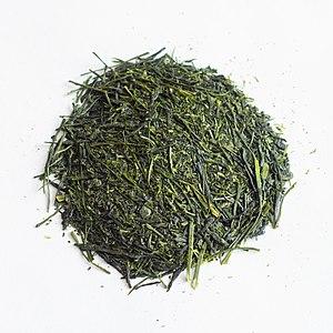 History of tea in Japan - Sencha tea leaves