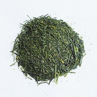 Green tea - Sencha green tea, the most popular form of tea in Japan.