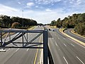 2018-10-31 13 55 06 View west along U.S. Route 50 (Arlington Boulevard) from the overpass for Interstate 495 (Capital Beltway) along the border of Woodburn and Merrifield in Fairfax County, Virginia.jpg