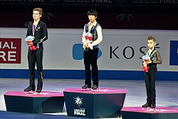 2019-2020 ISU Junior Grand Prix Final men's singles medal ceremonies 2019 12 07 2351.jpg