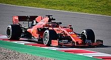 Leclerc sulla SF90 durante i test pre-stagionali 2019 al Circuito di Barcelllona.