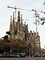 273 Sagrada Família, torres de la façana de la Passió, des del c. Mallorca.JPG