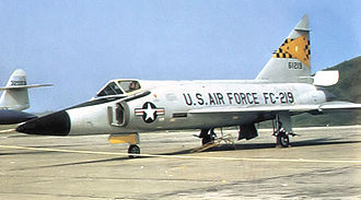 Griffiss Air Force Base - 27th FIS F-102A Delta Dagger, AF Ser. No 56-1219, circa 1958