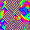 Cyclic cellular automaton pattern