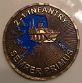 2nd Battalion 1st Infantry Regiment challenge coin--Cold Steel battalion- Semper Primus--Fort Wainwright, Alaska in Fairbanks, Alaska--Second side 2013-07-10 14-28.jpg