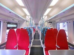 British Rail Class 387 - The Standard Class Interior of a Gatwick Express Class 387/2