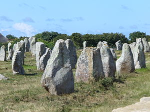 Carnac - Stones in the Menec alignment