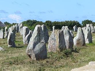 Carnac - Stones in the Menec alignment
