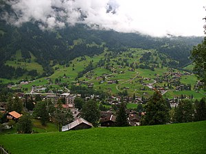 Blick aus Im Dürrenbergli, Grindelwald, Schweiz