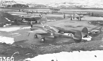 Naval Air Facility Adak - 54th Fighter Squadron P-38 Lightnings at Adak AAF