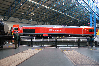 DB Cargo UK - DB Schenker liveried 59206 at the National Railway Museum, York in January 2009