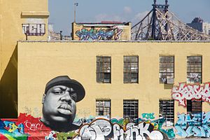 The Notorious B.I.G. - Mural of The Notorious B.I.G at 5 Pointz