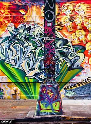 English: Graffiti art in the 5 Pointz museum, ...