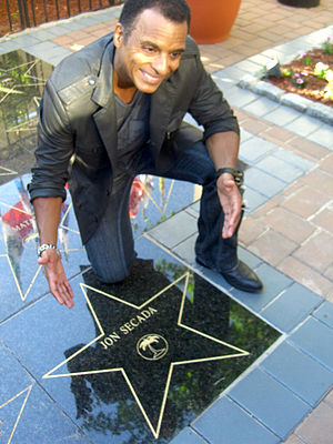 Jon Secada - In 2011 Secada was honored by Union City, New Jersey, with a star at Celia Cruz Plaza.
