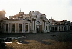 Trans-Baikal Railway - Train station in Chita