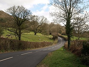 A382 road - Image: A382 in the Wray valley geograph.org.uk 1228449