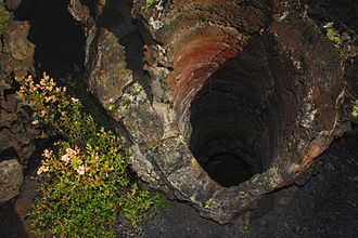 Newberry National Volcanic Monument - A tree mold in the Lava Cast Forest