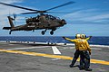 AH-64E landing qualifications on USS Peleliu, RIMPAC 2014 140719-A-DB316-017.jpg