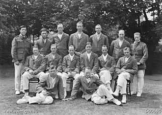 "Australian Imperial Force Touring XI - The Australian Imperial Force Touring XI photographed at Lord's Cricket Ground in June 1919. Back row (L to R): Staff Sergeant C. S. Winning, Dental Section, AIF Headquarters (HQ); Sergeant H. S. Love, Australian Army Service Corps (AASC); Gunner J. T. Murray, 103rd Battery; Gunner E. Bull, 26th Battery; Lieutenant J. M. Gregory, 4th Divisional Artillery; Captain E. J. Long, Deputy Assistant Provost Marshal, Weymouth; Corporal W. A. S. Oldfield, 15th Brigade (Field Ambulance). Middle row: Major C. T. Docker, General List; Captain C. E. Pellew, 27th Battalion; Lance Corporal H. L. Collins, 10th AASC; Captain C. B. Willis, Dental Section; Sergeant A. W. Lampard, 10th AASC; Captain W. L. Trennery, 17th Battalion. Front row: Gunner J. M. Taylor, 101st Howitzer Battery; Warrant Officer W. S. Stirling, AIF Headquarters, Records Section. Most players are wearing the official team blazer with the AIF ""rising sun"" emblem on the pocket."