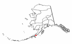 Location of Ivanof Bay, Alaska
