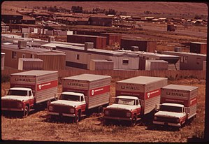 U-Haul - U-Haul trucks outside Reno, Nevada in 1973.