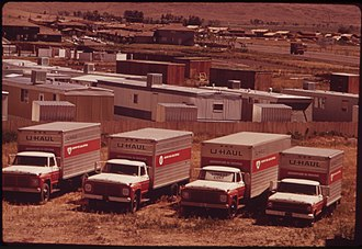 U-Haul - U-Haul trucks outside Reno, Nevada in 1973.
