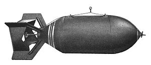 "Blockbuster bomb - Standard American AN-M56 4,000 lb ""general purpose"" bomb"