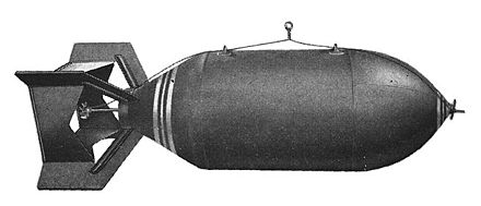 Standard American AN-M56 4,000 lb (1.8 t) general-purpose bomb