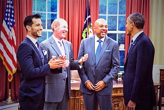 Pardon the Interruption - Tony Kornheiser, Michael Wilbon and Tony Reali meeting President Barack Obama.