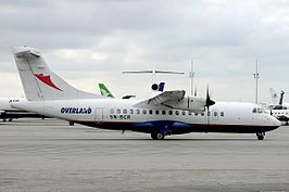 ATR42 Overland Airways 5N-BCR Ikeja August 2011.jpg
