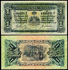 Commonwealth Of Australia One Pound 1918