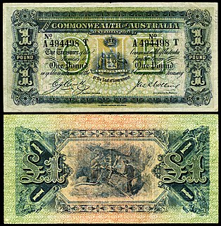 Australian pound currency of Australia from 1910 until 14 February 1966