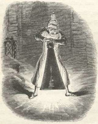 A Christmas Carol - Scrooge Extinguishes the First of the Three Spirits
