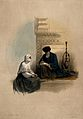 A Coptic Christian woman dictating a letter to a scribe, Cai Wellcome V0049391.jpg