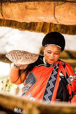 A Swati Woman Dancing