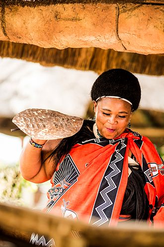 Swazi people - A Swazi woman dancing