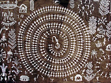 A Warli painting by Jivya Soma Mashe, Thane district.jpg
