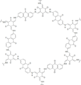 A chemical structure of the DAAQ-TFP covalent organic framework.png