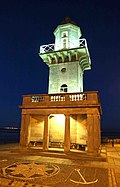 A floodlit Fleetwood low lighthouse - geograph.org.uk - 963012.jpg