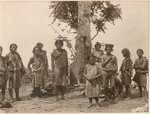 Lepcha people - A group of Lepchas in Darjeeling (c. 1880)