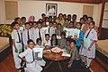 A group of children from Babu Jagjivan Ram Public School, Alwar, Rajasthan and Babu Jagjivan Ram Public School, Sultanpuri, Delhi met the Speaker, Lok Sabha, Smt. Meira Kumar, in New Delhi on August 06, 2010.jpg