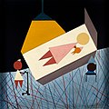 A mother and child in a maternity ward. Acrylic painting, 19 Wellcome L0031859.jpg