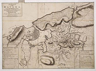 Siege of Havana - A plan of Havana and its environs in 1762, by Thomas Kitchen