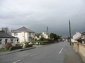A showery Gaerwen looking west along the A5 - geograph.org.uk - 758194.jpg